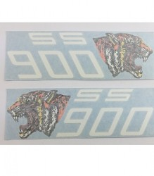 Ducati 900 SSD Side Cover Darmah Tiger Head Decals – 0802.91.875/0802.91.775