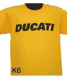 Ducati T-Shirt Kids Block K6 Yellow