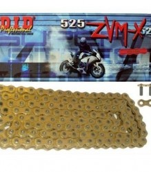 DID Professional Super Street #525 ZVM-X   X-Ring Gold Chain – DID525ZVMX124G
