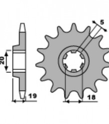 491 PBR Front Sprocket 12T & 13T – 530 pitch for Ducati 450 SINGLE – 0615.16.100/0615.16.090