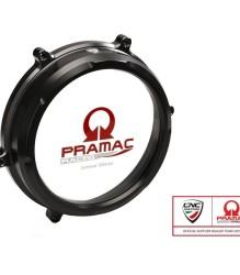 CNC RACING Ducati Panigale Clear Oil Bath Clutch Cover – CA200 – BLACK Pramac Lim.Ed