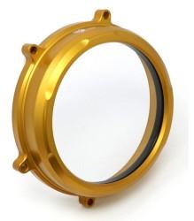 CNC RACING Ducati Panigale Clear Oil Bath Clutch Cover – CA200 – GOLD