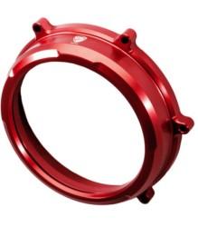 CNC RACING Ducati Panigale Clear Oil Bath Clutch Cover – CA200 – RED