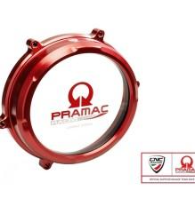 CNC RACING Ducati Panigale Clear Oil Bath Clutch Cover – CA200 – RED Pramac Lim.Ed