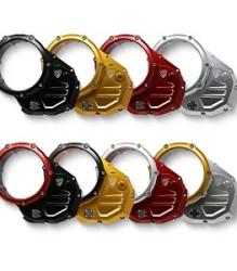 CNC RACING Ducati Clear Oil Bath Clutch Cover for Diavel/Multistrada – CA502 (Incl. Bicolour)