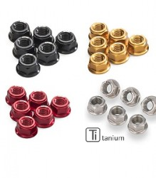 CNC RACING Nut Set for Ducati Ring Gear & Rear Sprocket Flange M10x1.0 (6pcs) – DA384