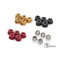 CNC RACING Nut Sets for Ducati Ring Gear & Rear Sprocket Flange M10x1.25 (5pcs) – DA383
